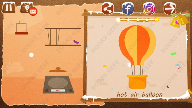 Chigiri: Paper Puzzle Christmas Pack Level 13 (Hot air Balloon) Solution, Walkthrough, Cheats