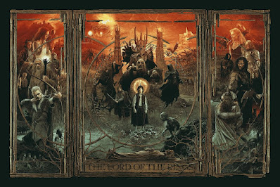 The Lord of The Rings Triptych Screen Print by Gabz x Bottleneck Gallery