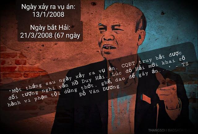 TS luật Đỗ Văn Đương muốn giết Hồ Duy Hải và báo cáo sai ngày Hải bị bắt?