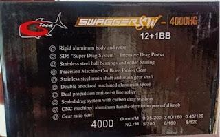 Spesifikasi Reel Gtech Swagger SW 4000HG