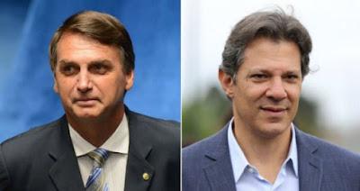 Bolsonaro e Haddad disputam segundo turno das eleições 2018