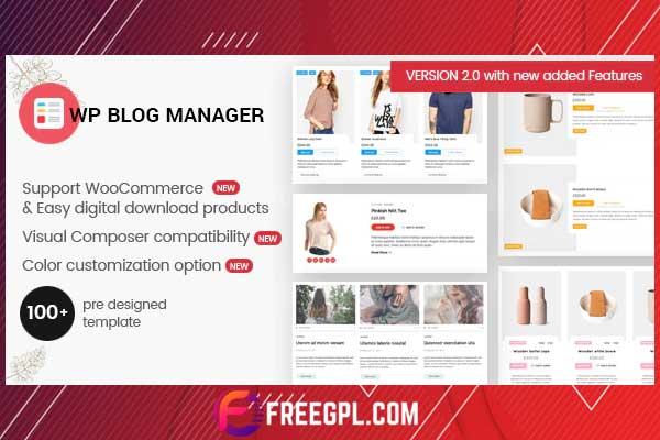 WP Blog Manager - WordPress Plugin Download Free