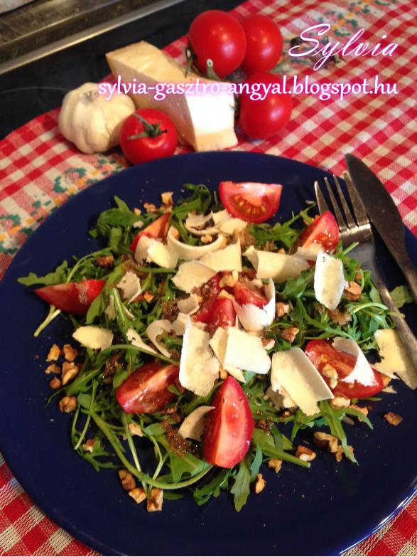 Sylvia Gasztro Angyal: Rukkola saláta dióval
