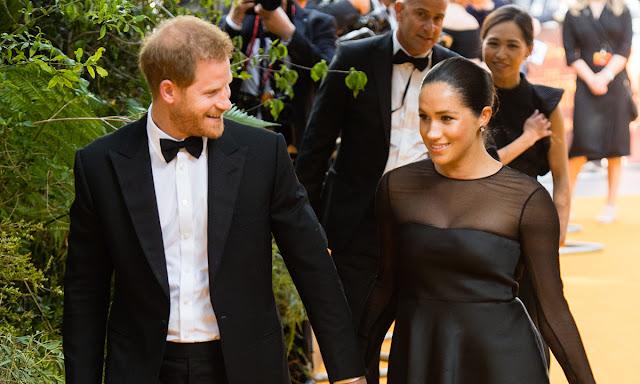 Meghan i Harry na premierze Króla Lwa