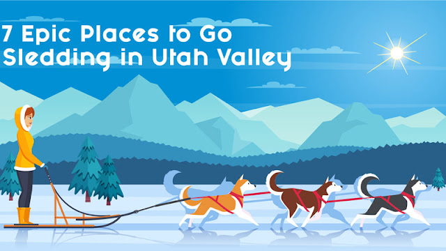 7 Epic Places to Go Sledding in Utah Valley blog cover image