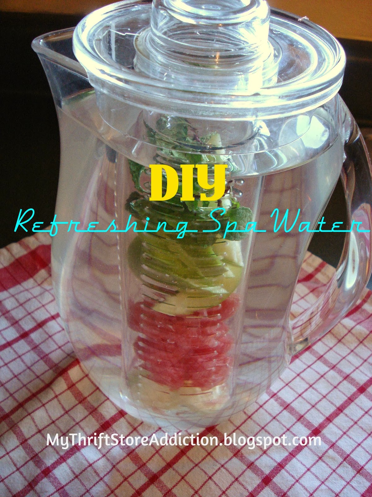 DIY refreshing spa water