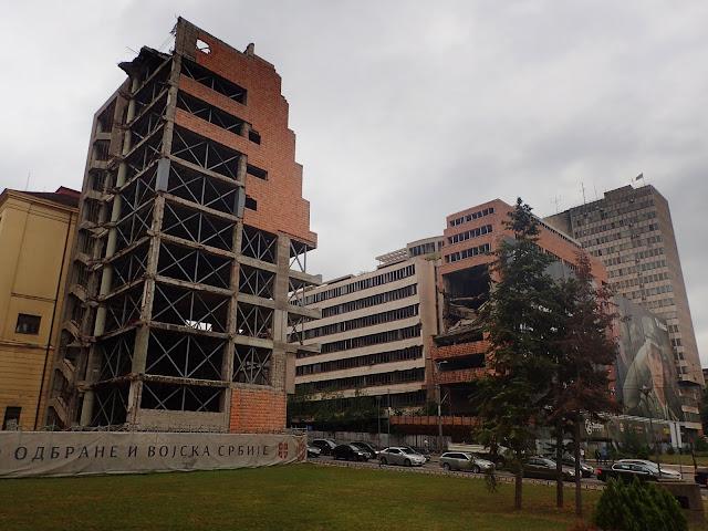 Belgradzkie ruiny Ministerstwa Obrony Narodowej