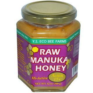عسل نيوزلندي لزيادة نشاط الجسم من اي هيرب Y.S. Eco Bee Farms, Raw Manuka Honey, Active 15+, 12 oz (340 g)
