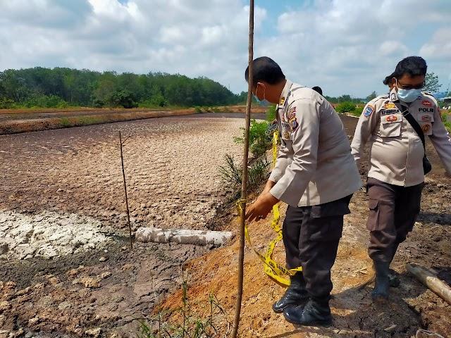 Sosok Mayat Karyawan PT.BBS Balam KM 7 Ditemukan Dalam Kolam Limbah Nomor Enam Milik Perusahan