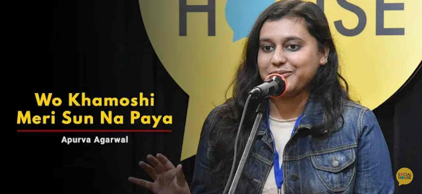 About This Poetry :- This beautiful love poetry  'Wo Khamoshi Meri Sun Na Paya' for The Social House is presented by Apurva Agarwal and also written by her which is very beautiful a piece.