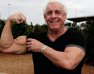 Jackie Beems' with her ex-husband Flair posing for picture