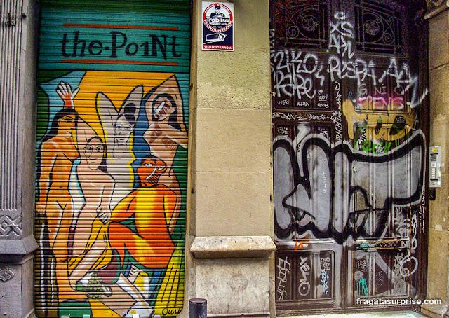 """Grafite """"As Senhoritas de Avignon"""" em Barcelona"""