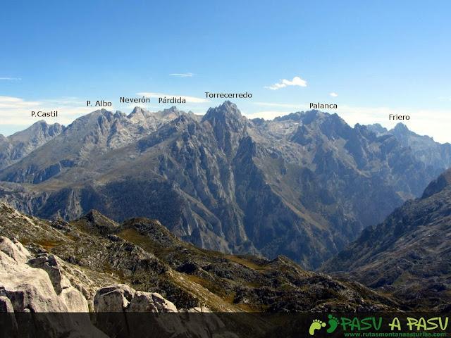 Vista desde la Jascal de Peña Castil, Torrecerredo y Friero