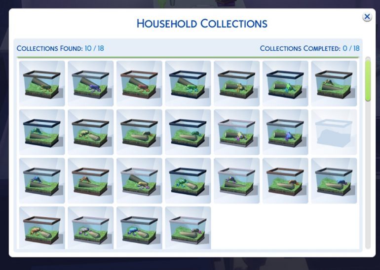 All the types of frogs in The Sims 4