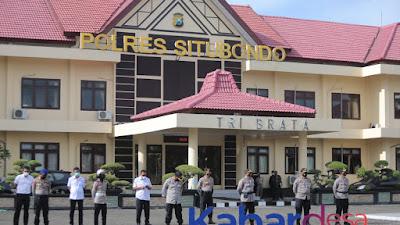 Apel Pagi, Polres Situbondo Utamakan Pengamanan Dan Penjagaan Mako Dipertebal