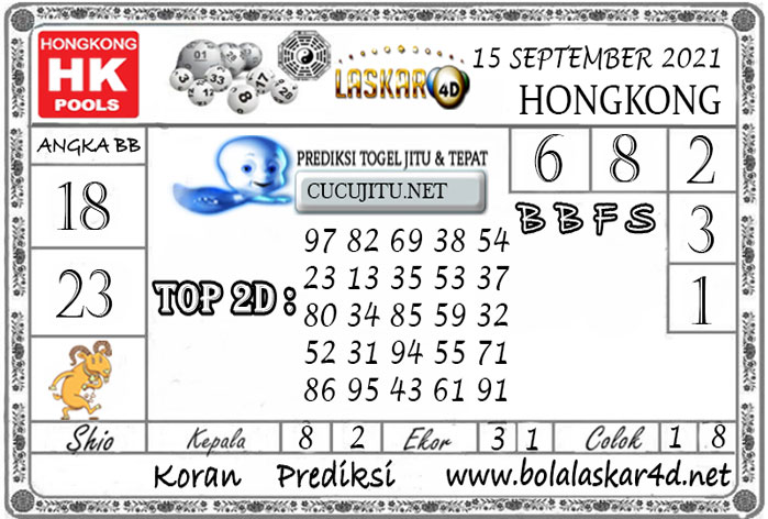 Prediksi Togel HONGKONG POOLS LASKAR4D 15 SEPTEMBER 2021
