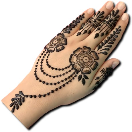 Jewellery Mehndi Design for Kids