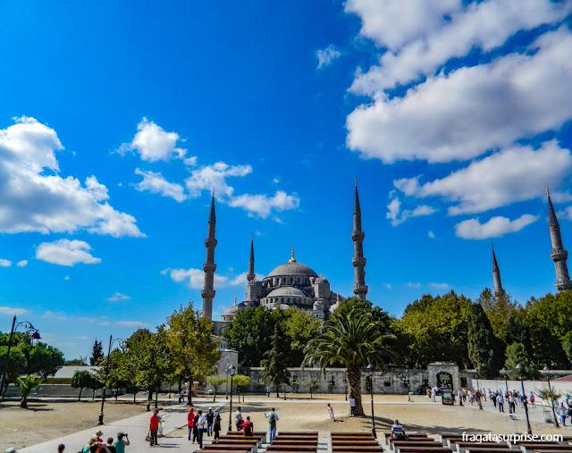 A Mesquita Azul vista da Praça de Sultanahmet, Istambul