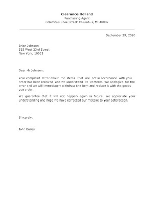 Apology Letter Sample for Sending Wrong Goods