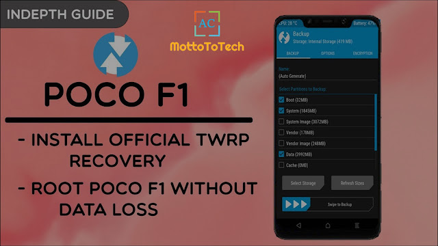 How to install TWRP on Poco F1