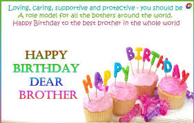 Happy Birthday wishes for brother: loving, caring, and protective-you should be
