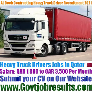 AL Deeb Contracting and Transporting Heavy Truck Driver Recruitment 2021-22