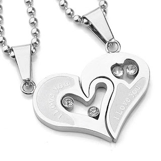 heart-shaped pendant for valentine's day