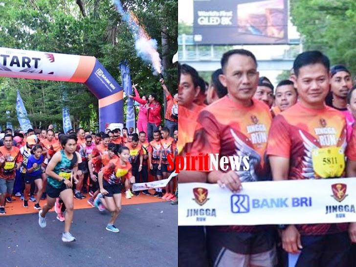 Aster Kasdam Hasanuddin Utamakan Kebersamaaan Dengan Peserta Jingga Run 2019