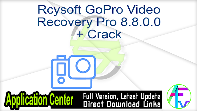Rcysoft GoPro Video Recovery Pro 8.8.0.0 + Crack