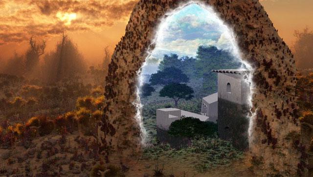 Ilustrasi gerbang ke dunia lain