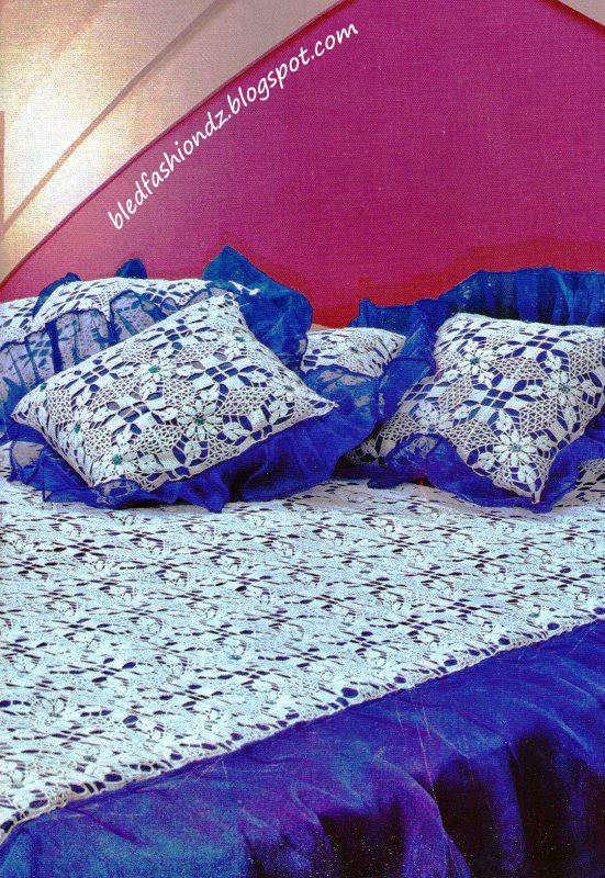 la mode alg rienne couvre lit bleu. Black Bedroom Furniture Sets. Home Design Ideas