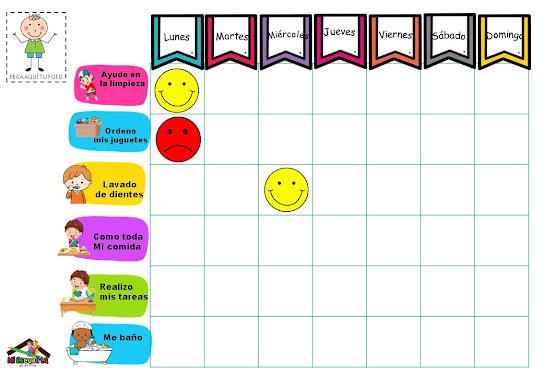 tabla de logros para niños