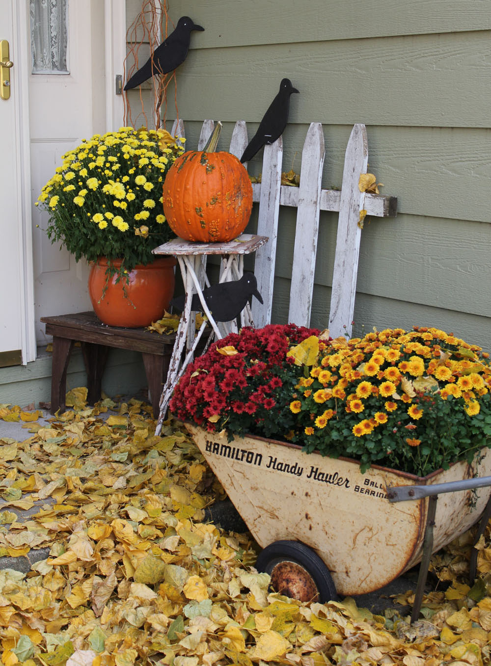 A Front Entry For Fall Itsy Bits And Pieces