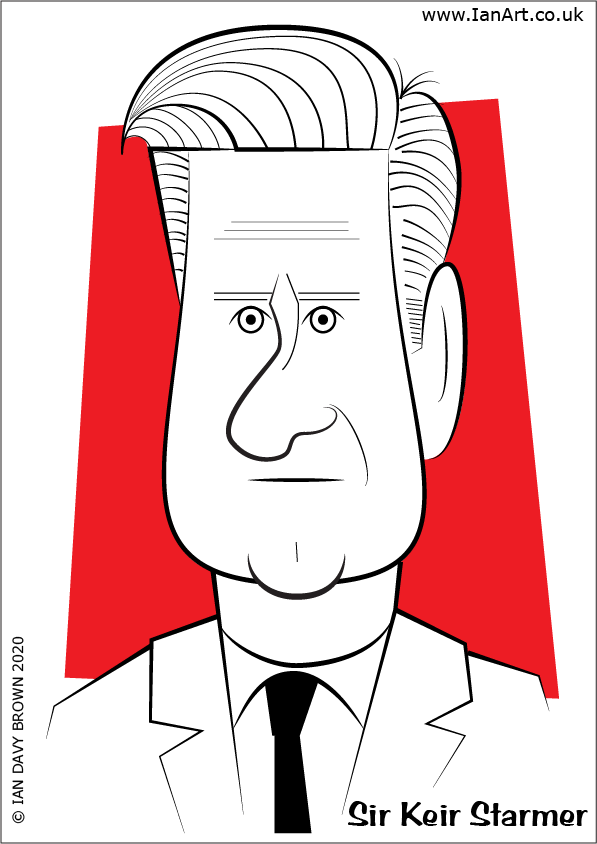 Sir Keir Starmer Caricature Stylised cartoon