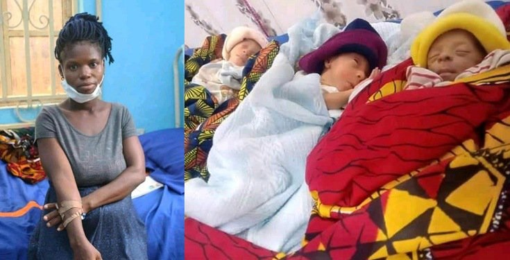 Photos: 20-Year-Old Groundnut Seller And Rape Victim Gives Birth To Triplets #Arewapublisize