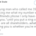 Man tells boyfriend who called to warn him over his girl that they are all shareholders until he puts a ring on it