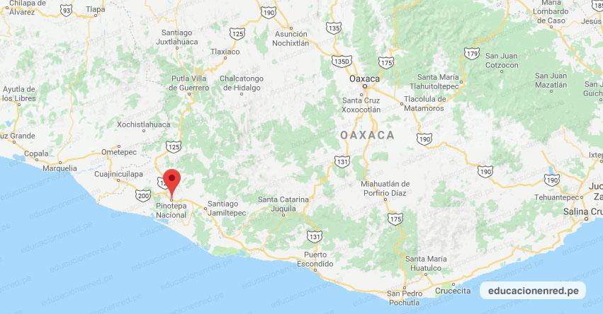 Temblor en México de Magnitud 4.2 (Hoy Lunes 15 Febrero 2021) Sismo - Epicentro - Pinotepa Nacional - Oaxaca - OAX. - SSN - www.ssn.unam.mx