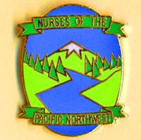 Nurses of the Pacific Northwest lapel pin