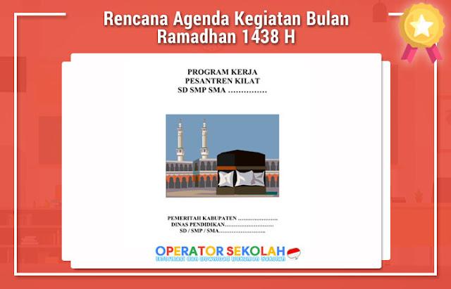 Rencana Agenda Kegiatan Bulan Ramadhan 1438 H