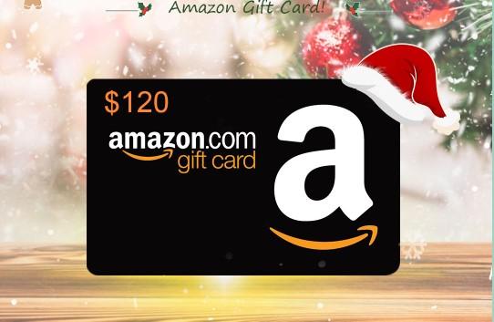 Sorteio de um Gift Card de $ 120 da Amazon