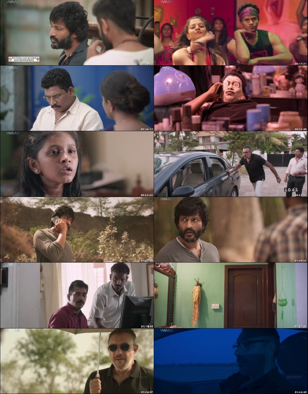 Screen Shot Of Echarikkai Idhu Manithargal Nadamadum Idam 2018 300MB Full Movie Hindi Dubbed Free Download 480P HDRip Small Size PC Movie