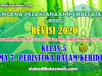 RPP KELAS 5 TEMA 7 SD/MI KURIKULUM 2013 REVISI 2020