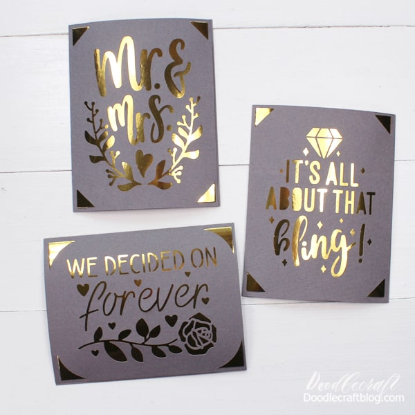Repeat the card making process for as many cards as you desire. This is the answer to the Christmas card question, they turn out perfectly!