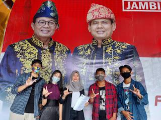 Ratu bersama milenial Jambi Berkah mendukung Fachrori - Syafril.