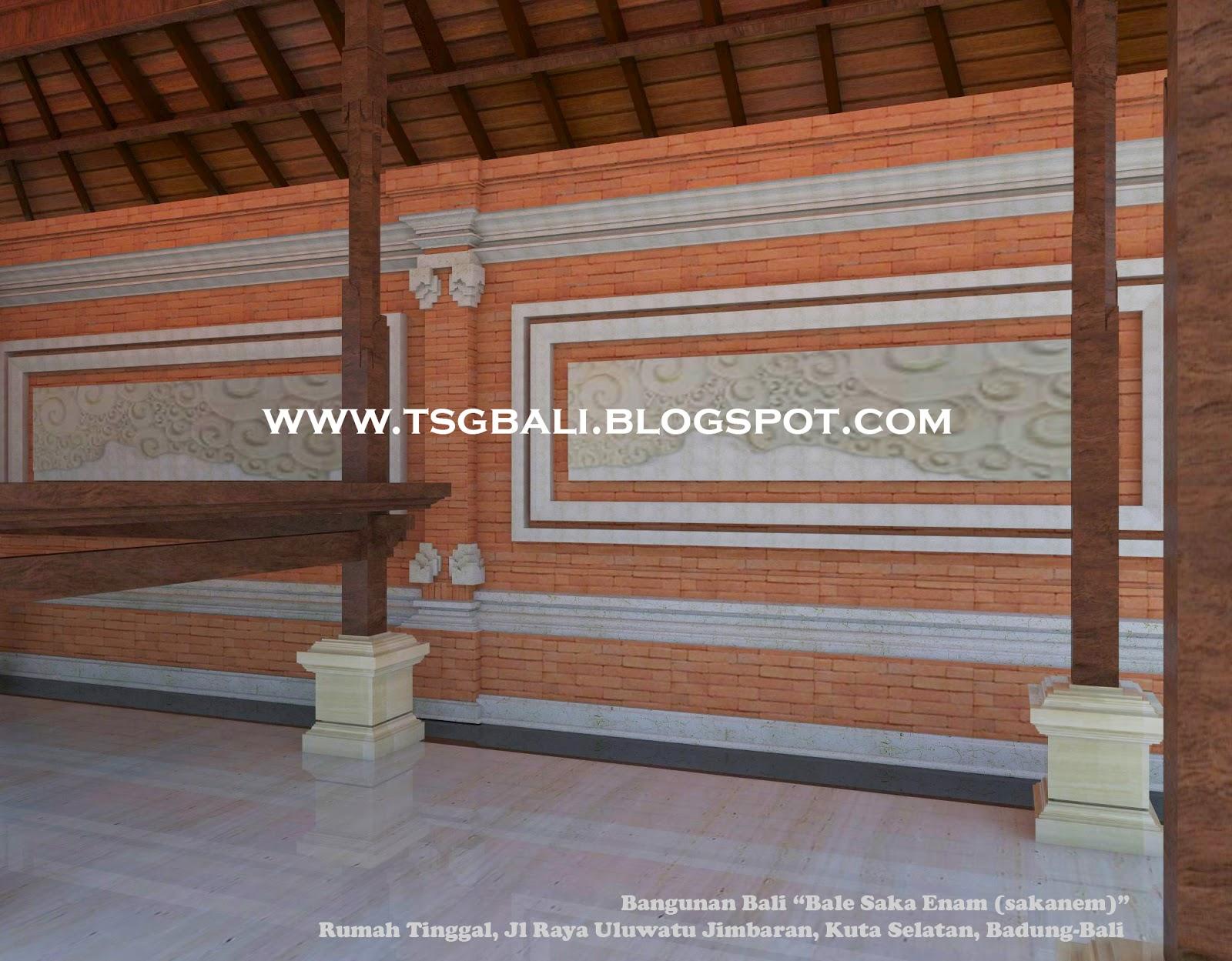 Desain Rumah Bale Bali Bangunan Sakanem Arsitektur Modern Denah Adat
