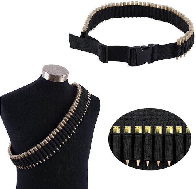 Rifle Bullet Cartridge Bandolier Shotgun Belt Sling Shell Carrier Holder