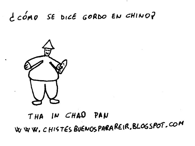 ¿Cómo se dice gordo en chino? Tha In Chao Pan