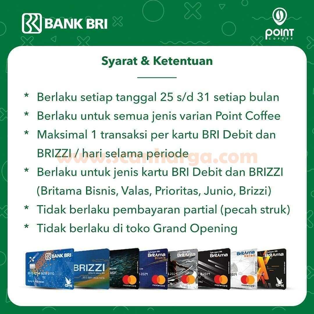 Point Coffee Promo Payday Buy 1 Get 1 Free dengan Kartu Bank BRI