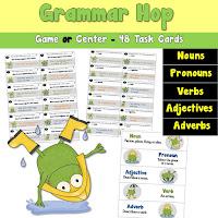 Grammar Hop Game or Center