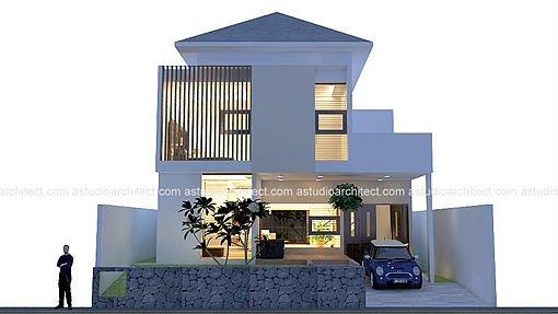 A Rumah Di Lahan 10 12 X 30 M2 Desain Siap Pakai Kode 001